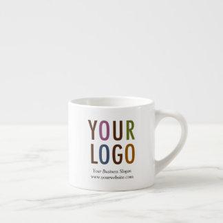 Taza del café express con el logotipo de la