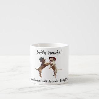 Taza del café express de bull terrier del baile
