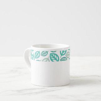 Taza del café express de las hojas taza espresso