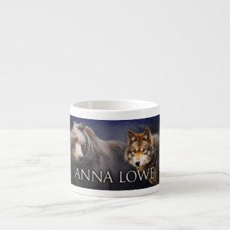 Taza del café express del oso/del lobo