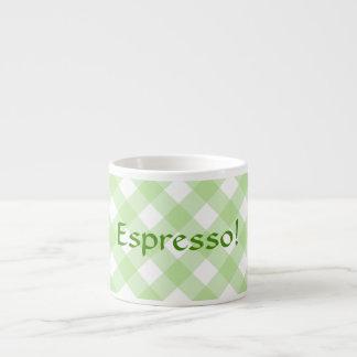 Taza del café express - enrejado verde de la