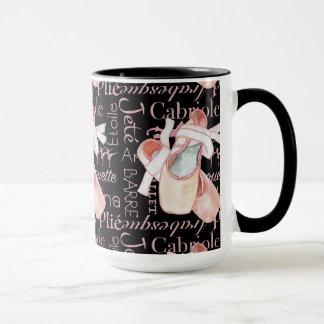 Taza del café sólo del arte del ballet de la