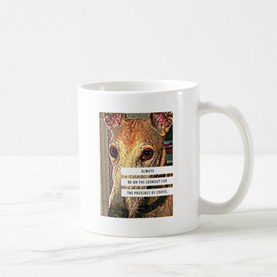 Taza del café y del galgo