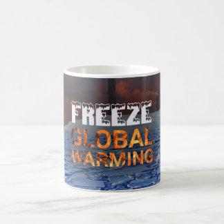 Taza del calentamiento del planeta del helada