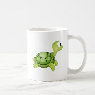 "Taza del carácter de la tortuga del ""pequeño del"