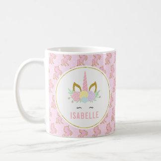 Taza del chocolate caliente del unicornio de