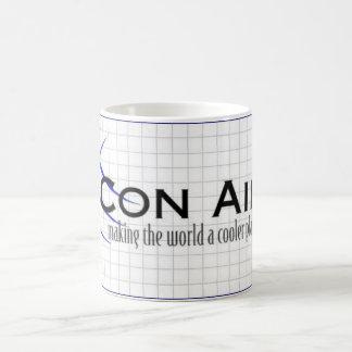 Taza del coffie del logotipo del aire de la estafa
