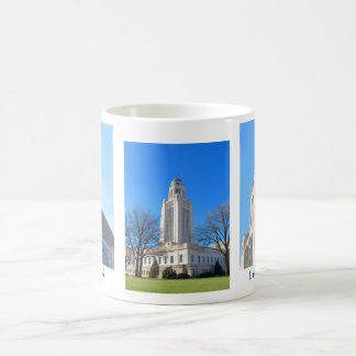Taza del collage la Capital del Estado de Nebraska