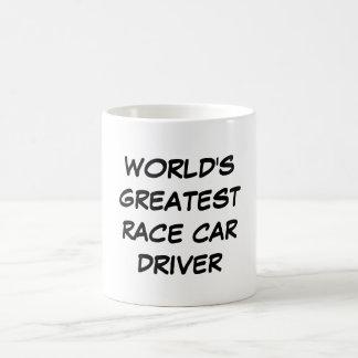 Taza del conductor del coche de carreras más gran