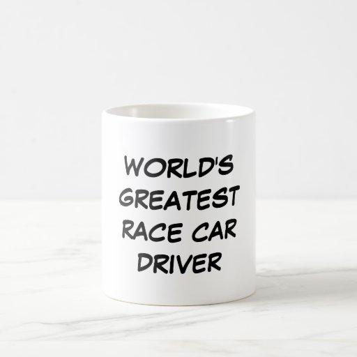"""""""Taza del conductor del coche de carreras más gran"""