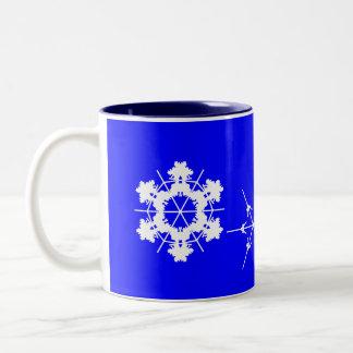 Taza Bicolor Taza del copo de nieve
