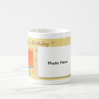 Taza del cumpleaños con sus fotos