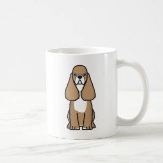 Taza del dibujo animado de la raza del perro de co