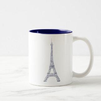 Taza del Dos-Tono de la marina de guerra de París