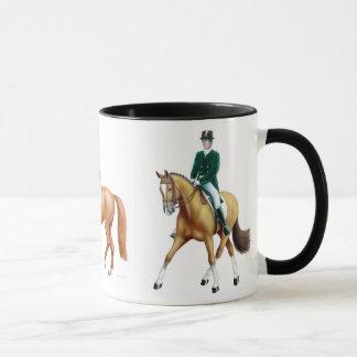 Taza del Equestrian de los caballos del Dressage