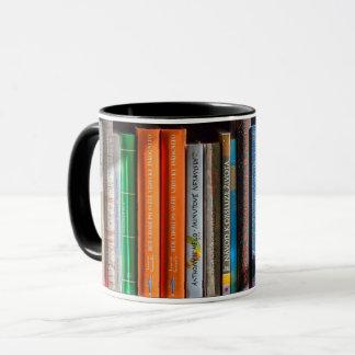 Taza del estante del aficionado a los libros