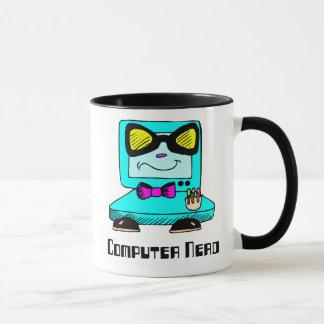Taza del friki del empollón del ordenador