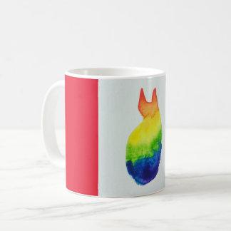 Taza del gato del arco iris