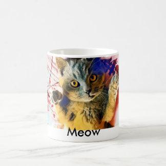 Taza del gato del maullido