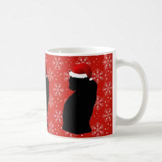 Taza del gato del navidad