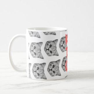 Taza del gato del té del equipo