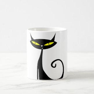 Taza del gato negro del feliz Halloween