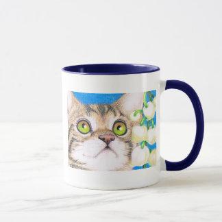 taza del gato y del lirio de los valles
