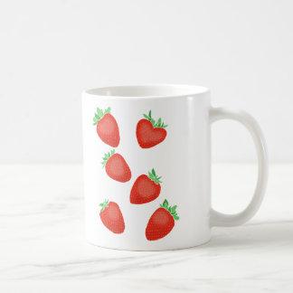Taza del gráfico de las frutas frescas de la fresa
