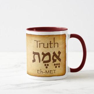 Taza del hebreo de la VERDAD EMET
