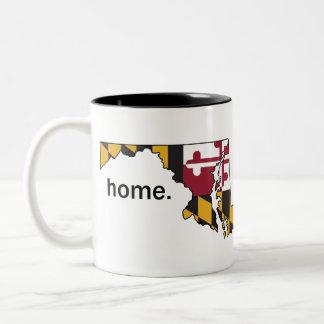 Taza del hogar de la bandera de Maryland