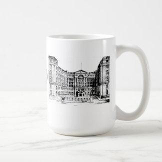 Taza del hospital de Middlesex (negro y blanco)