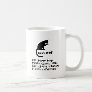 Taza del humor de la opinión del gato
