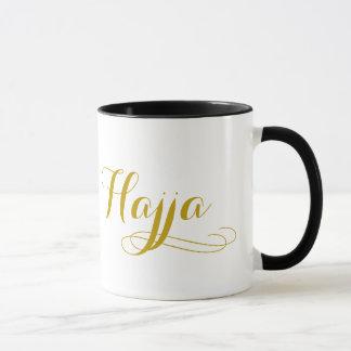 Taza del jadye para las mujeres con la palabra
