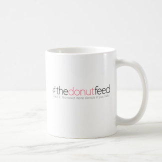 """Taza del logotipo """"de la alimentación del buñuelo"""""""