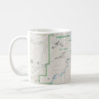 Taza del mapa de Canyonlands (Utah)