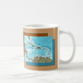 Taza del mapa del Caribe