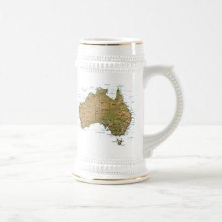 Taza del mapa del ~ de la bandera de Australia