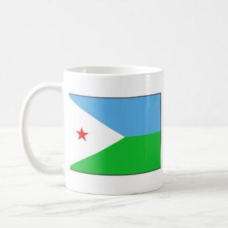 Taza del mapa del ~ de la bandera de Djibouti