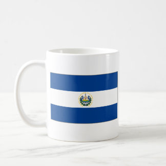 Taza del mapa del ~ de la bandera de El Salvador
