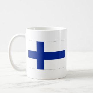 Taza del mapa del ~ de la bandera de Finlandia