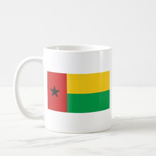 Taza del mapa del ~ de la bandera de Guinea-Bissau