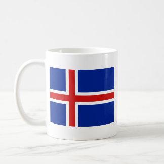 Taza del mapa del ~ de la bandera de Islandia