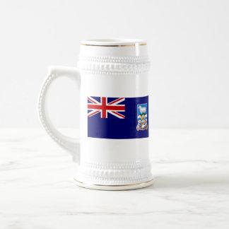 Taza del mapa del ~ de la bandera de Islas Malvina
