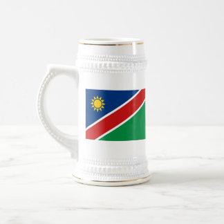 Taza del mapa del ~ de la bandera de Namibia