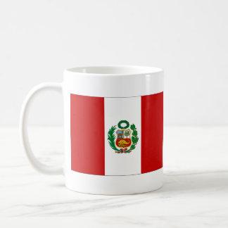 Taza del mapa del ~ de la bandera de Perú