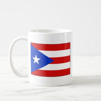 Taza del mapa del ~ de la bandera de Puerto Rico