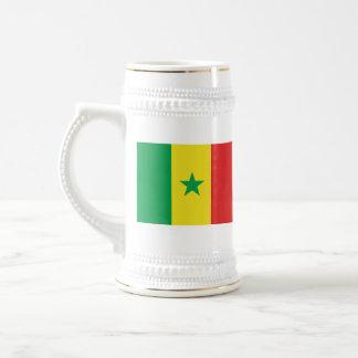 Taza del mapa del ~ de la bandera de Senegal