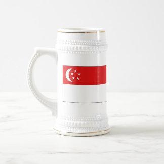 Taza del mapa del ~ de la bandera de Singapur