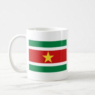 Taza del mapa del ~ de la bandera de Suriname