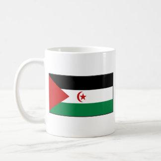 Taza del mapa del ~ de la bandera de Western Sahar